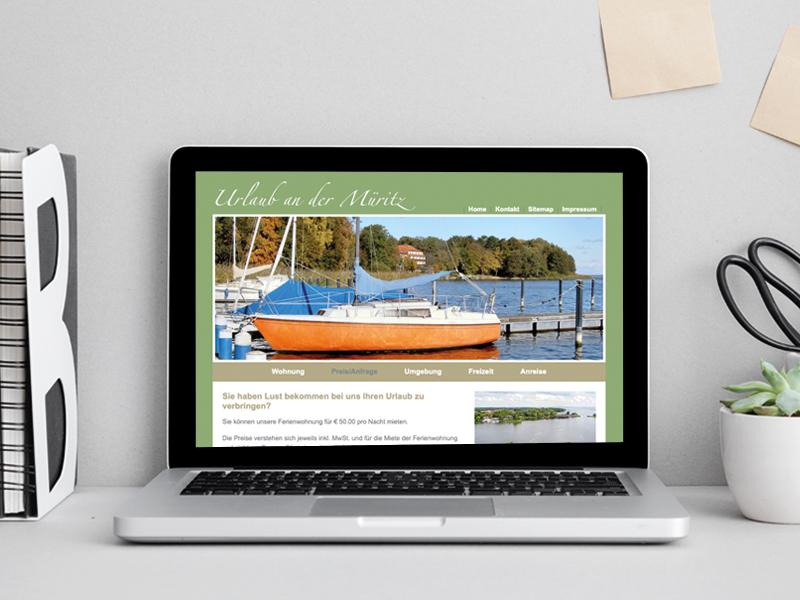 Müritz Ferienwohnung, Webdesign - Corinne Brockmüller