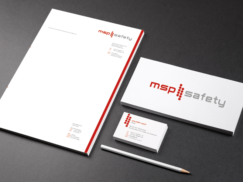 MSP Safety - Corporate Design, Print - Corinne Brockmüller